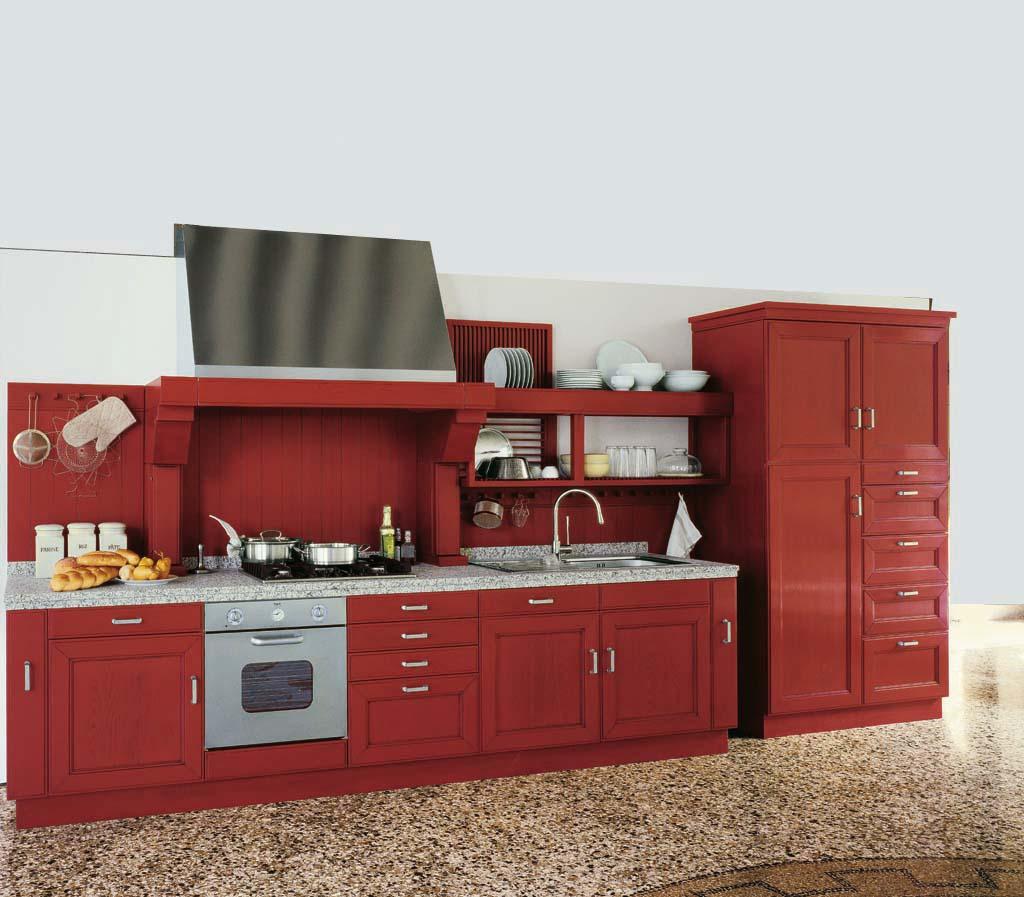 armoires-de-cuisine-anciennes-rouges