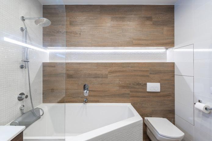 Carrelages muraux effet bois
