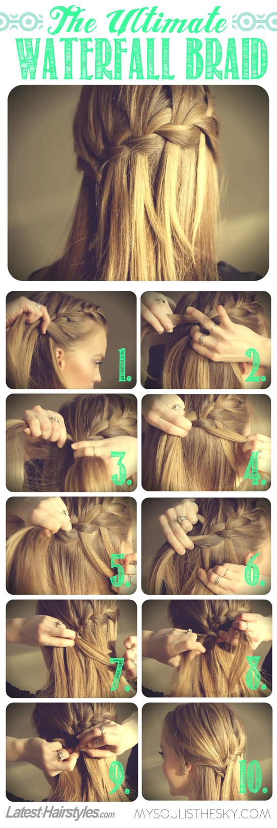 WaterfallBraid 8 coiffures de mariage bricolage pour les cheveux longs pour impressionner