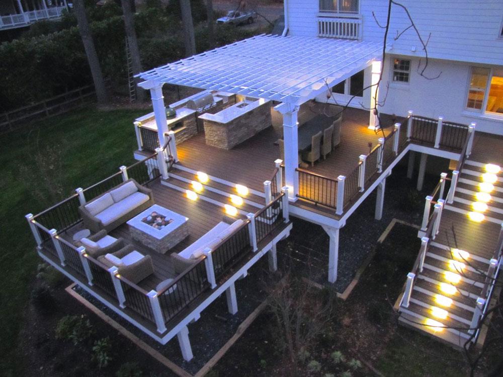 Trex-Deck-and-Pergola-by-Hughes-Landscaping Idées d'éclairage de terrasse impressionnantes que vous pouvez utiliser chez vous