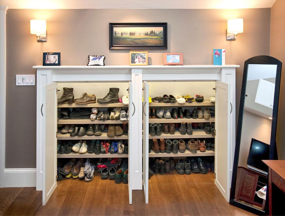 rangement pour chaussures Que faire des vieilles armoires de cuisine (idées d'armoires réutilisées)