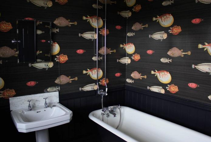 poisson dans la salle de bain