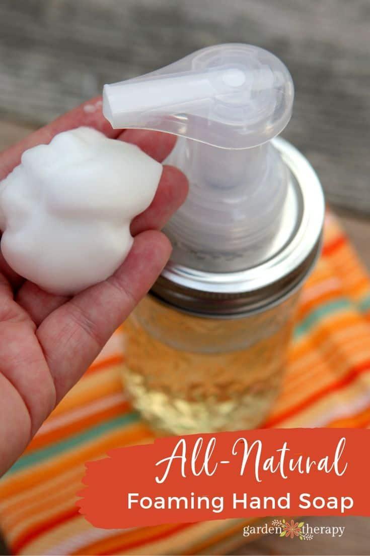 Savon à mains moussant tout naturel fait maison Savon fait maison 15 idées et parfums géniaux pour le savon à faire soi-même