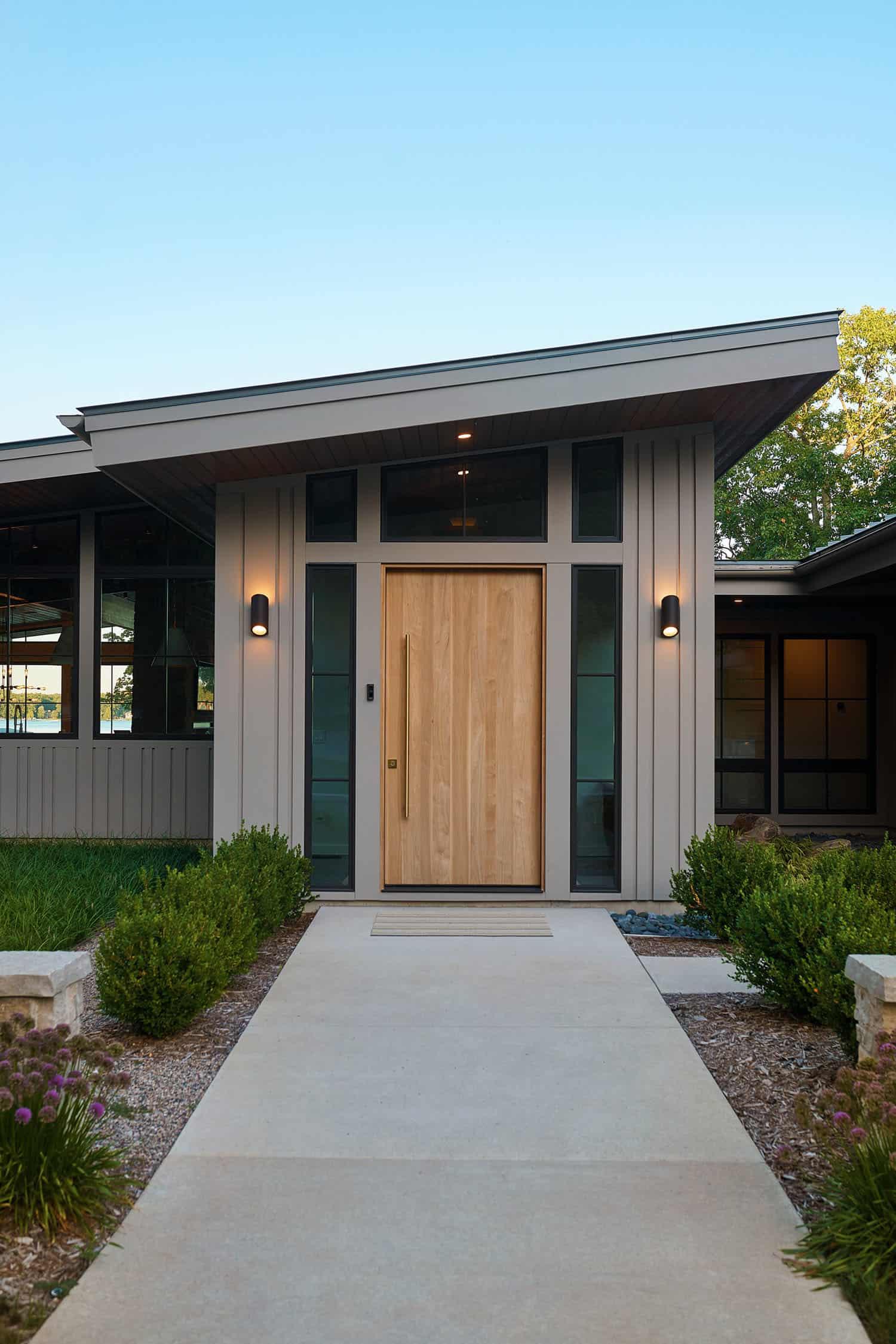 entrée-maison-lac-moderne