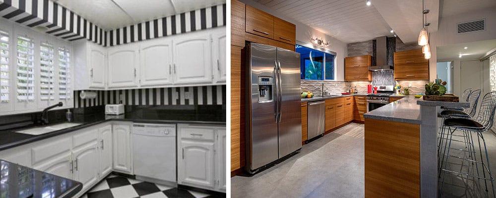 cuisine-maison-moderne-du milieu du siècle-avant-après