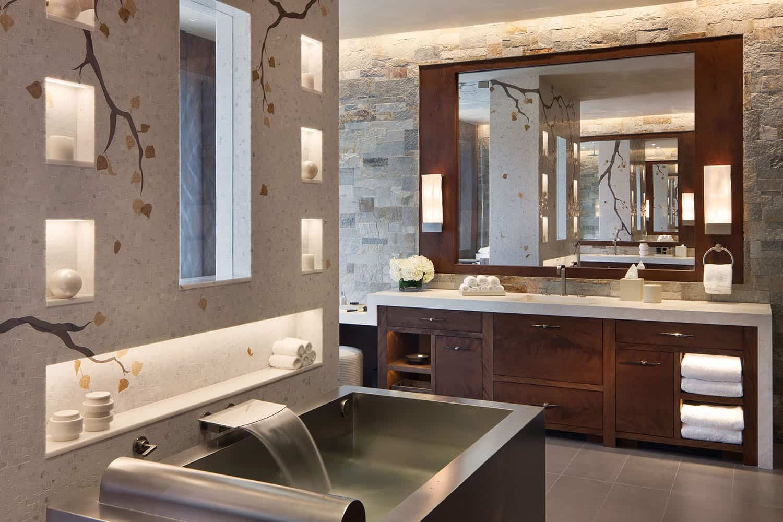 salle de bain contemporaine montagnarde