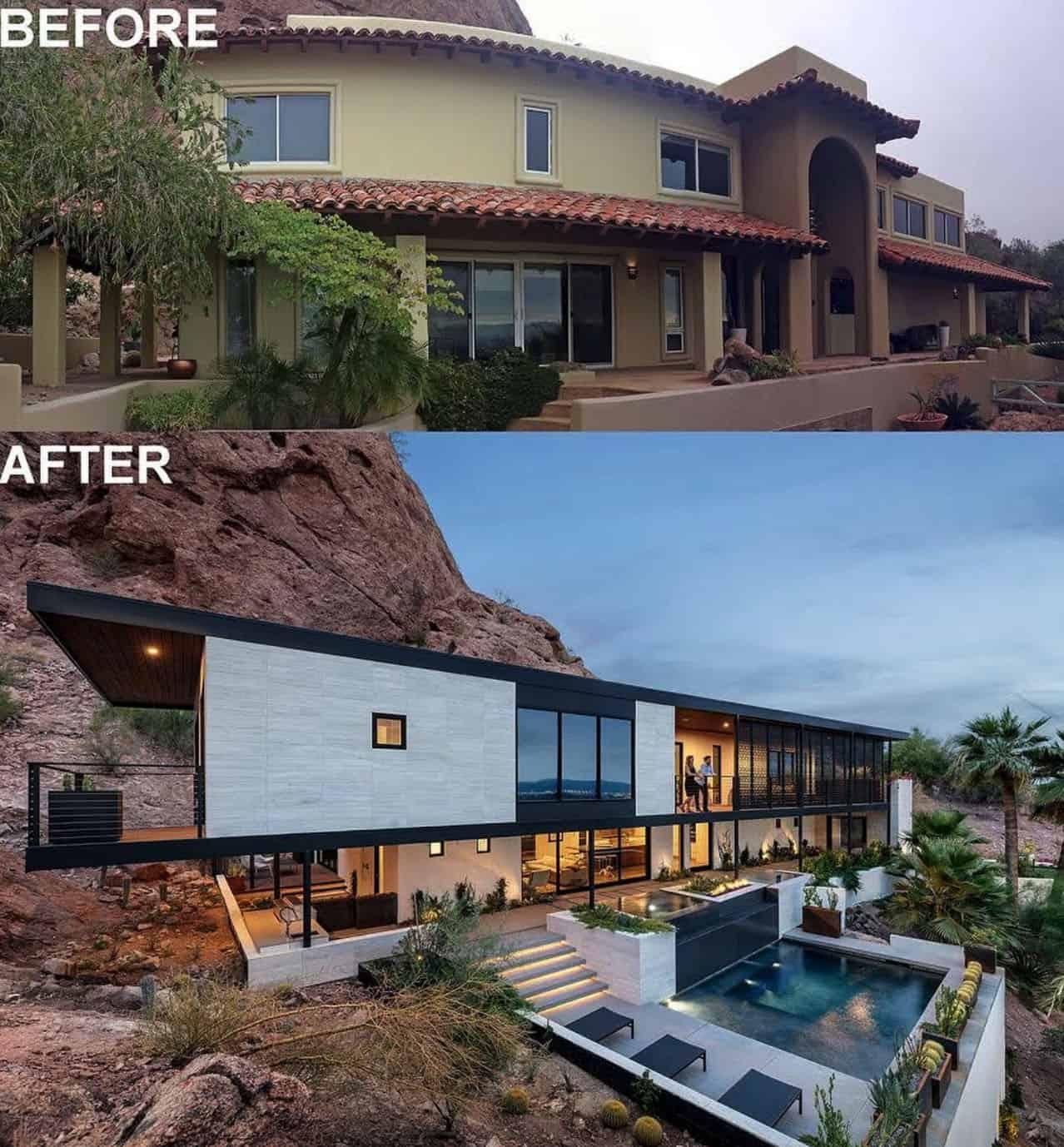maison-moderne-à-flanc de montagne-avant-après