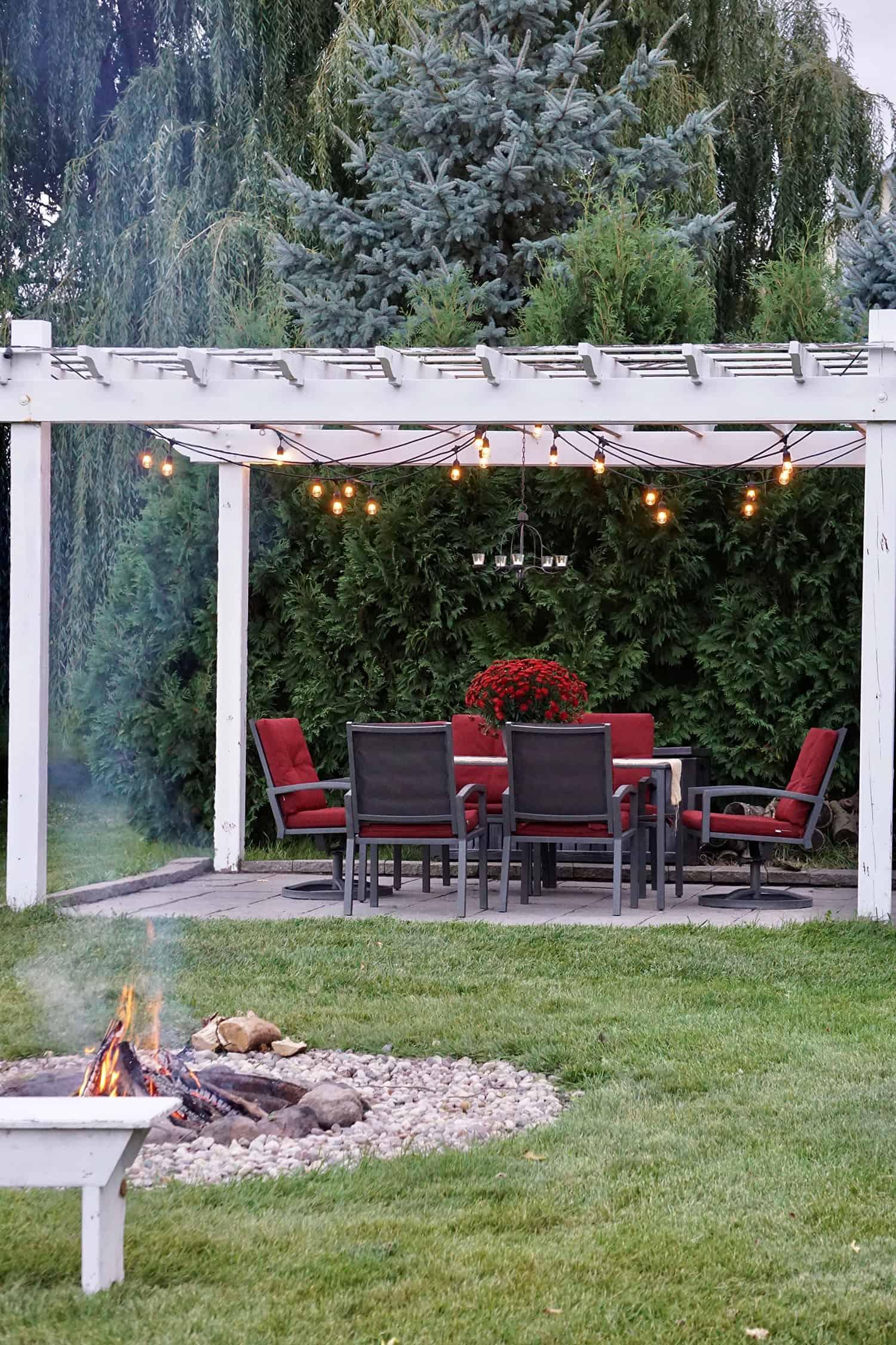 patio de style ferme moderne