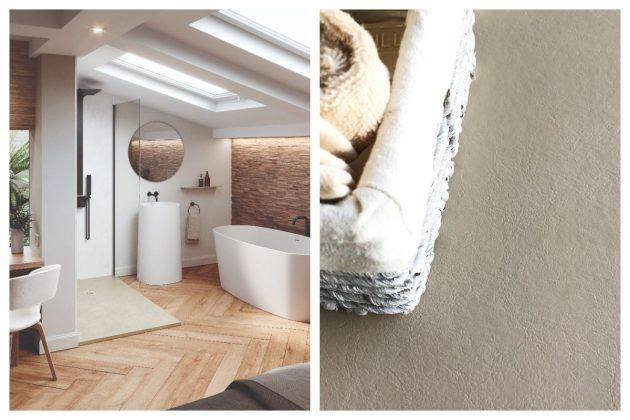 Jouer avec des textures qui mènent à une nouvelle salle de bain
