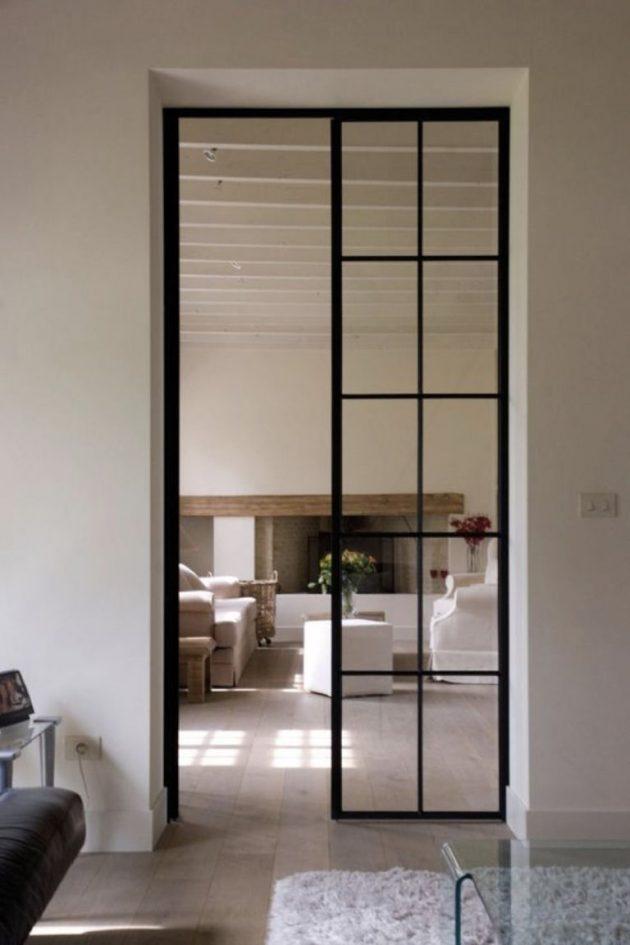 La porte vitrée comme protagoniste en quête d'élégance et de transparence