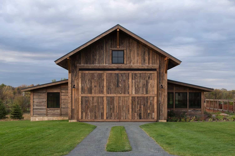 moderne-rustique-maison-garage-exterieur