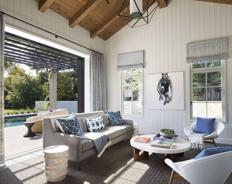 pool-house de style transitionnel