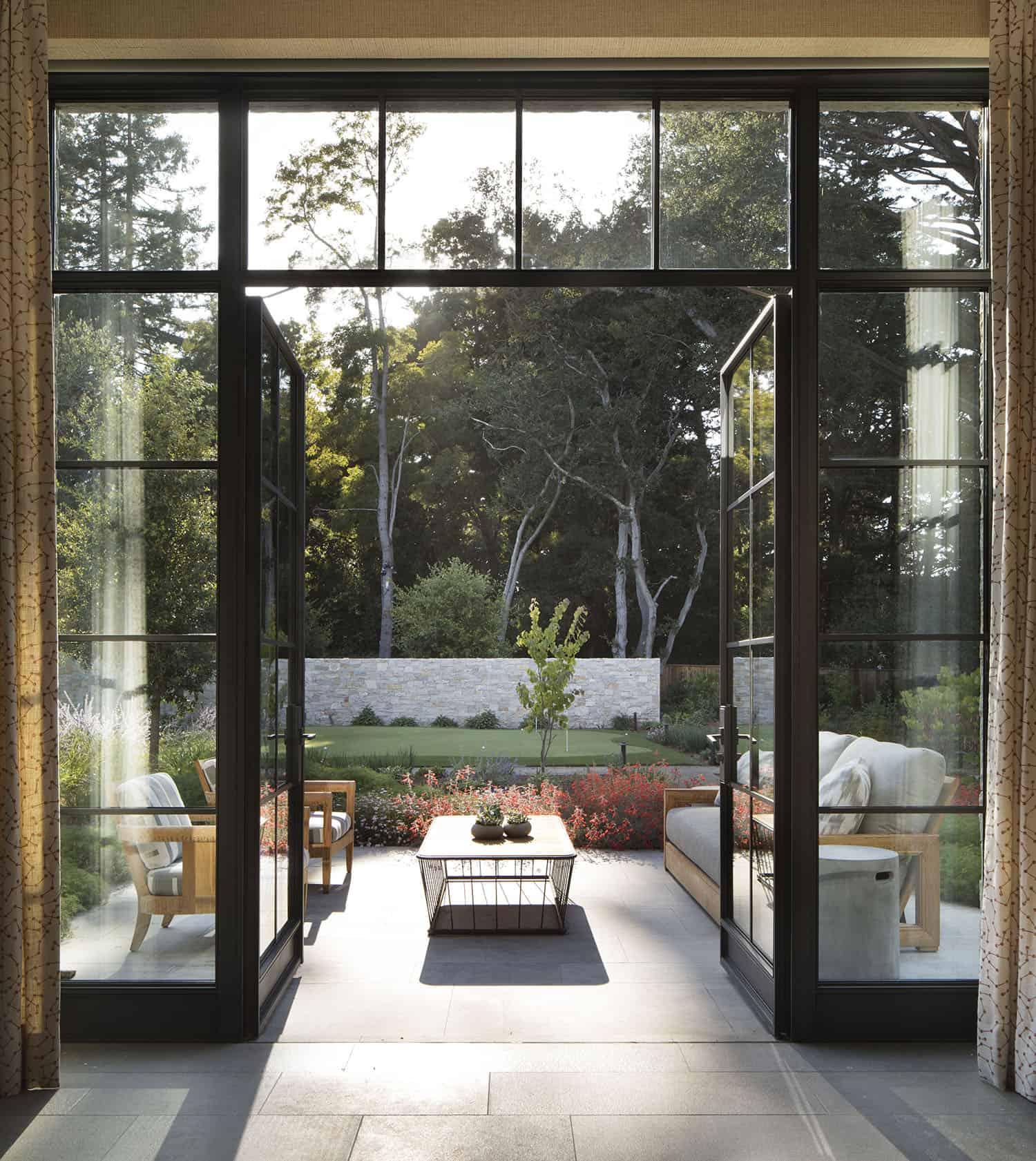 entrée-patio-style transitionnel