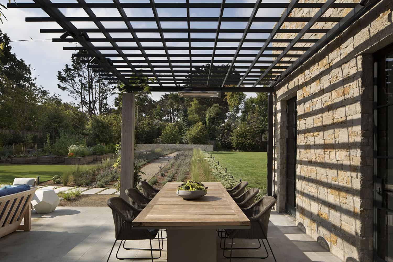 patio de style transitionnel
