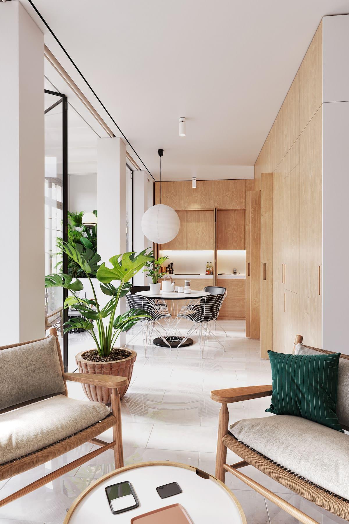 design d'intérieur d'un appartement à la mode photo 11