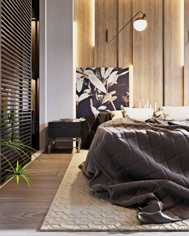 design d'intérieur d'un appartement à la mode photo 24