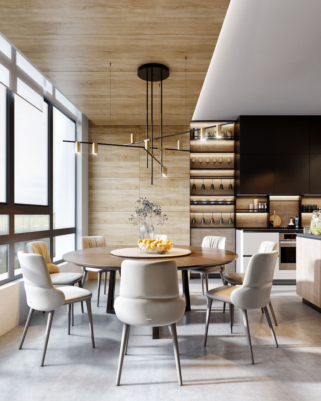 design d'intérieur d'un appartement à la mode photo 36