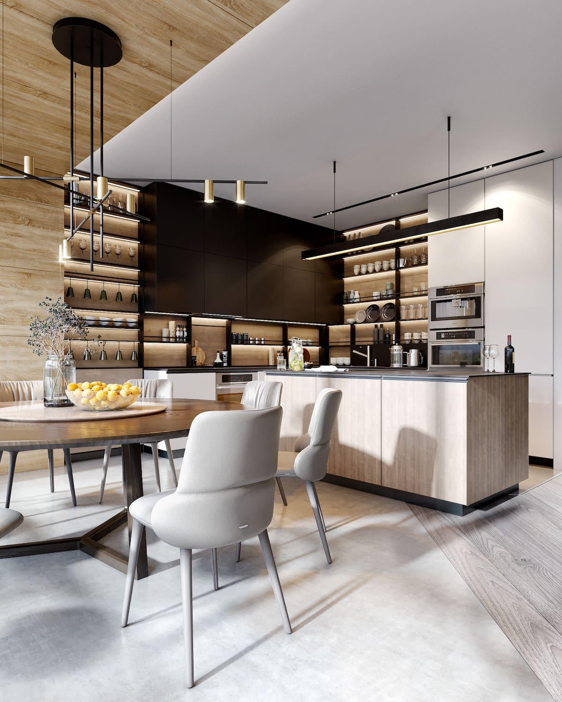 design d'intérieur d'un appartement à la mode photo 37