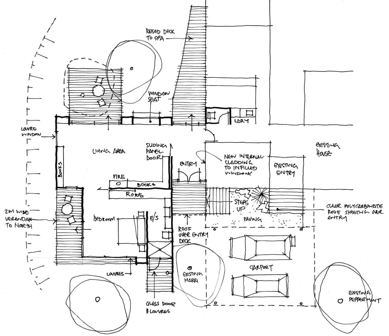 plan-d-étage-maison-pavillon-contemporain