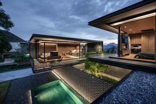 Maison V60 par WARchitect à Bangkok, Thaïlande
