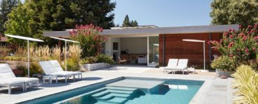 Sonoma Pool House and Guest House by Klopf Architecture in California, USA
