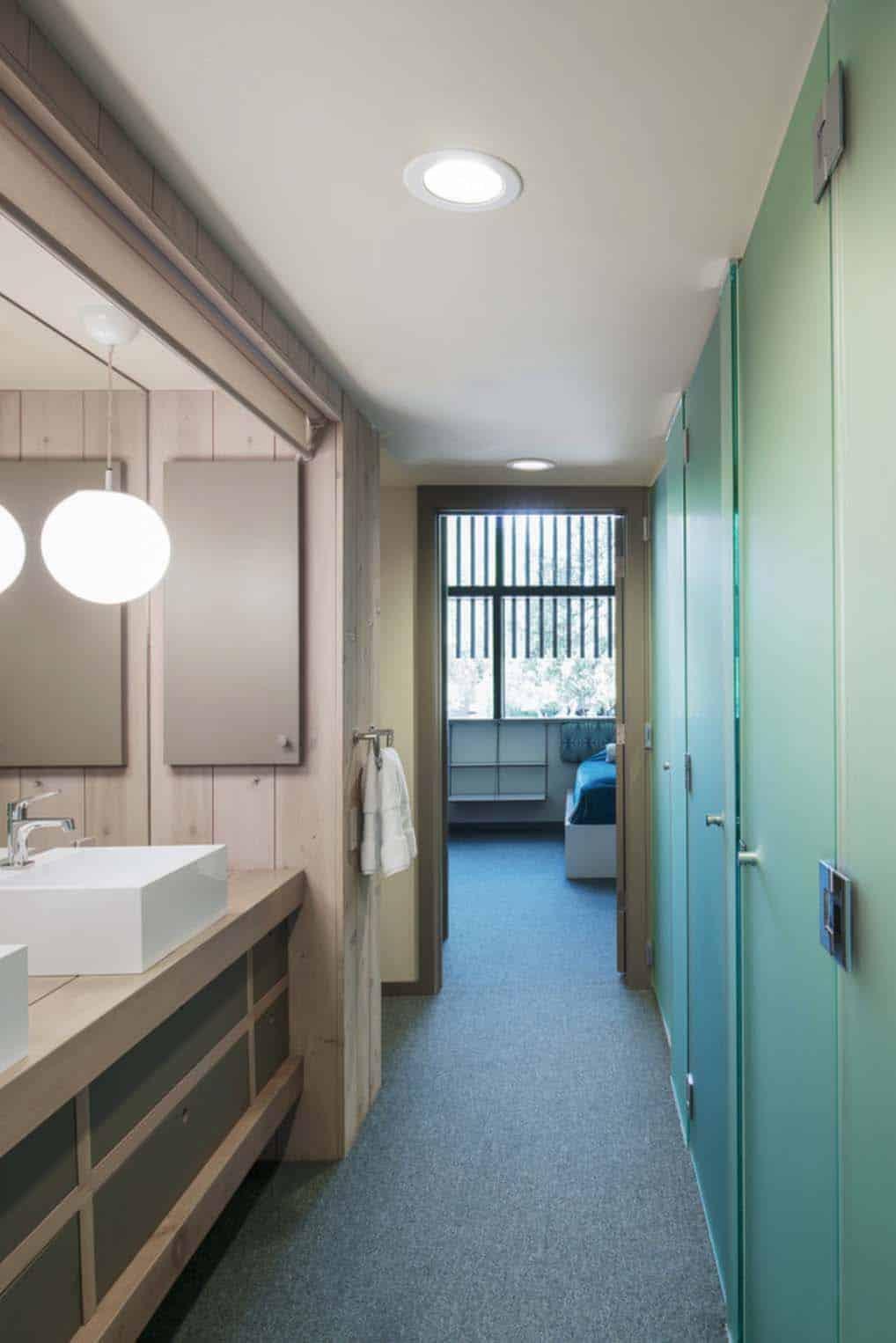 Mid-Century-moderne-salle de bain