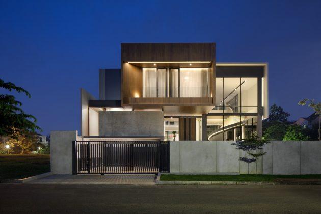 BP House par Rakta Studio dans le sous-district de Serpong en Indonésie