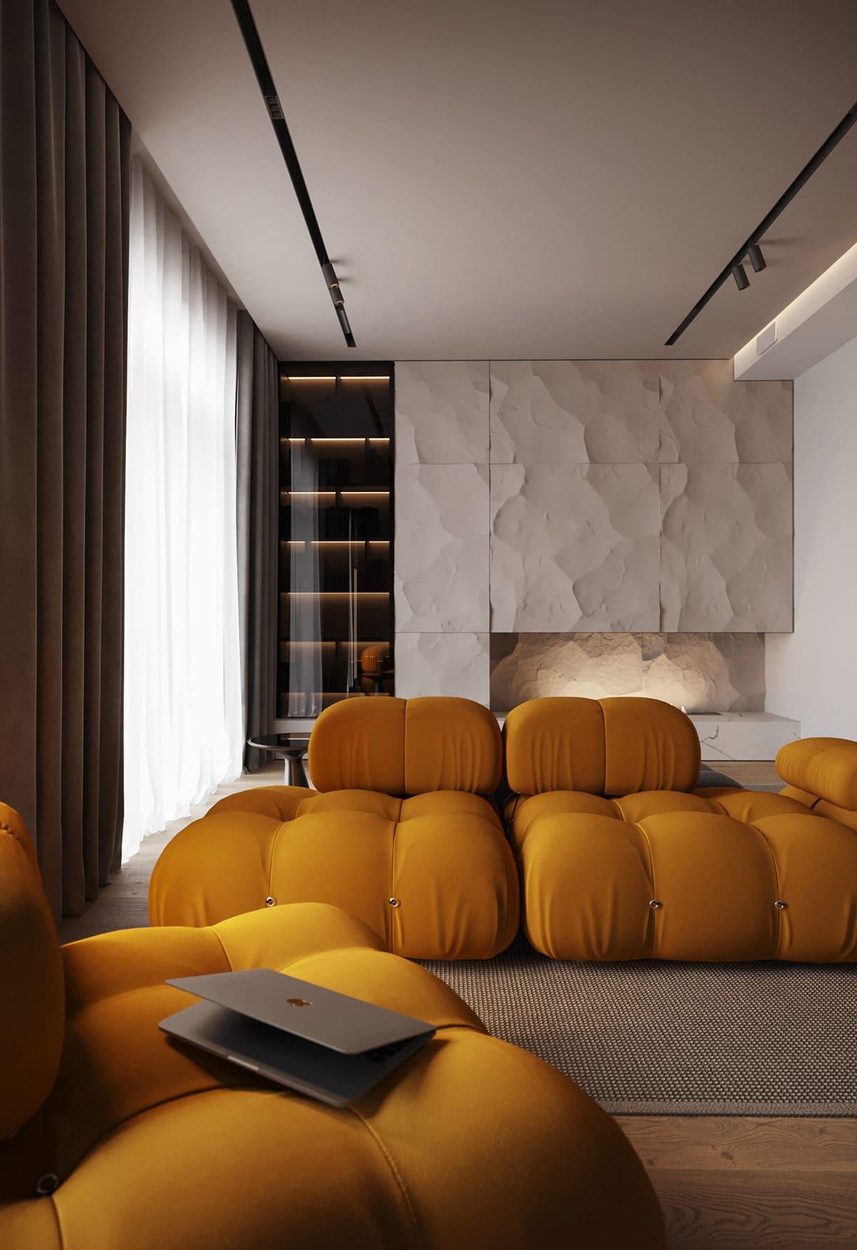 design d'intérieur d'un appartement à la mode photo 1