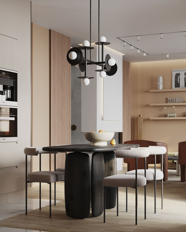 design d'intérieur d'un appartement à la mode photo 26