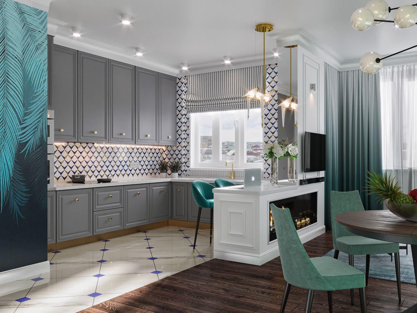 design d'intérieur d'un appartement à la mode photo 31