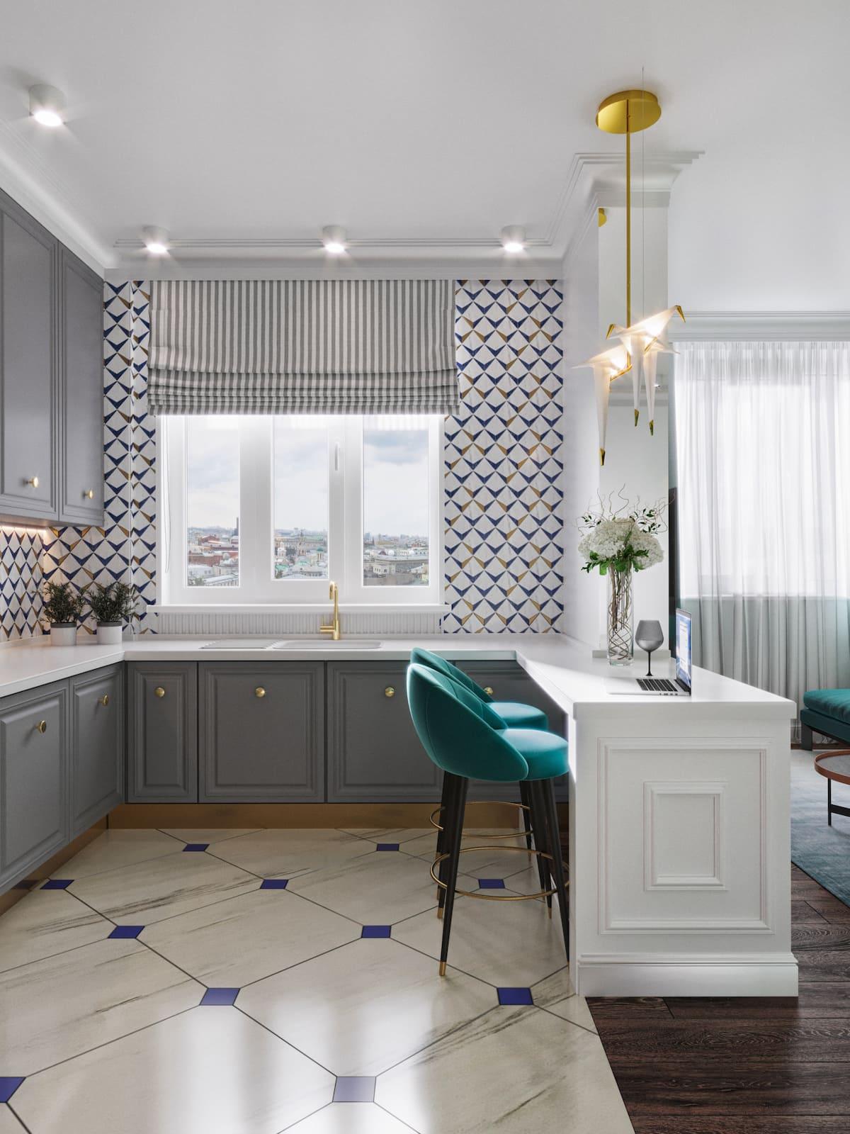 design d'intérieur d'un appartement à la mode photo 32
