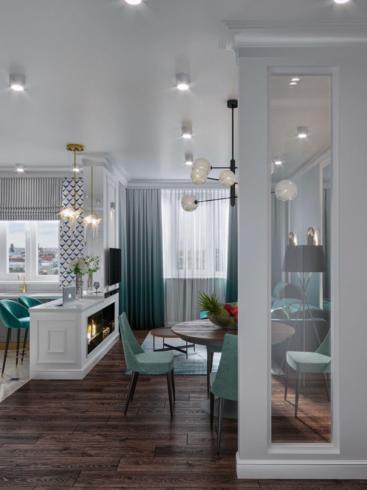 design d'intérieur d'un appartement à la mode photo 35