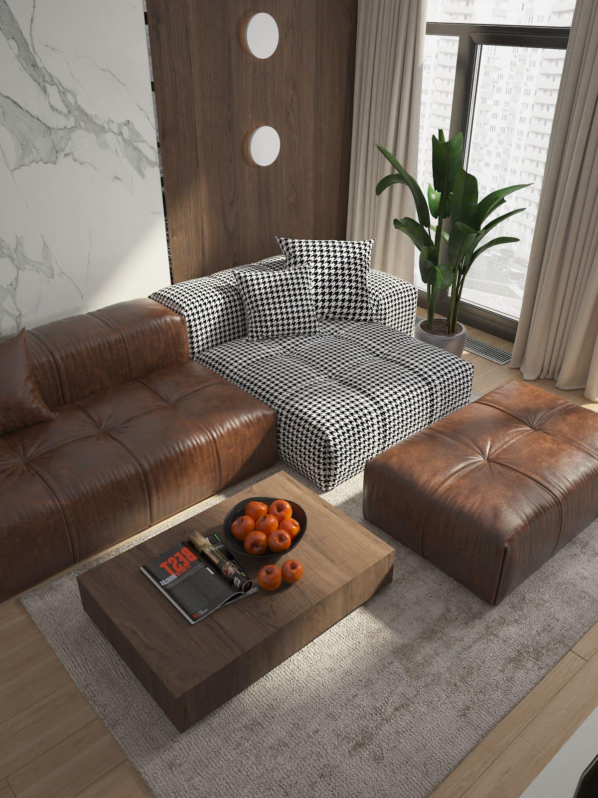 conception d'un appartement d'une pièce photo 7