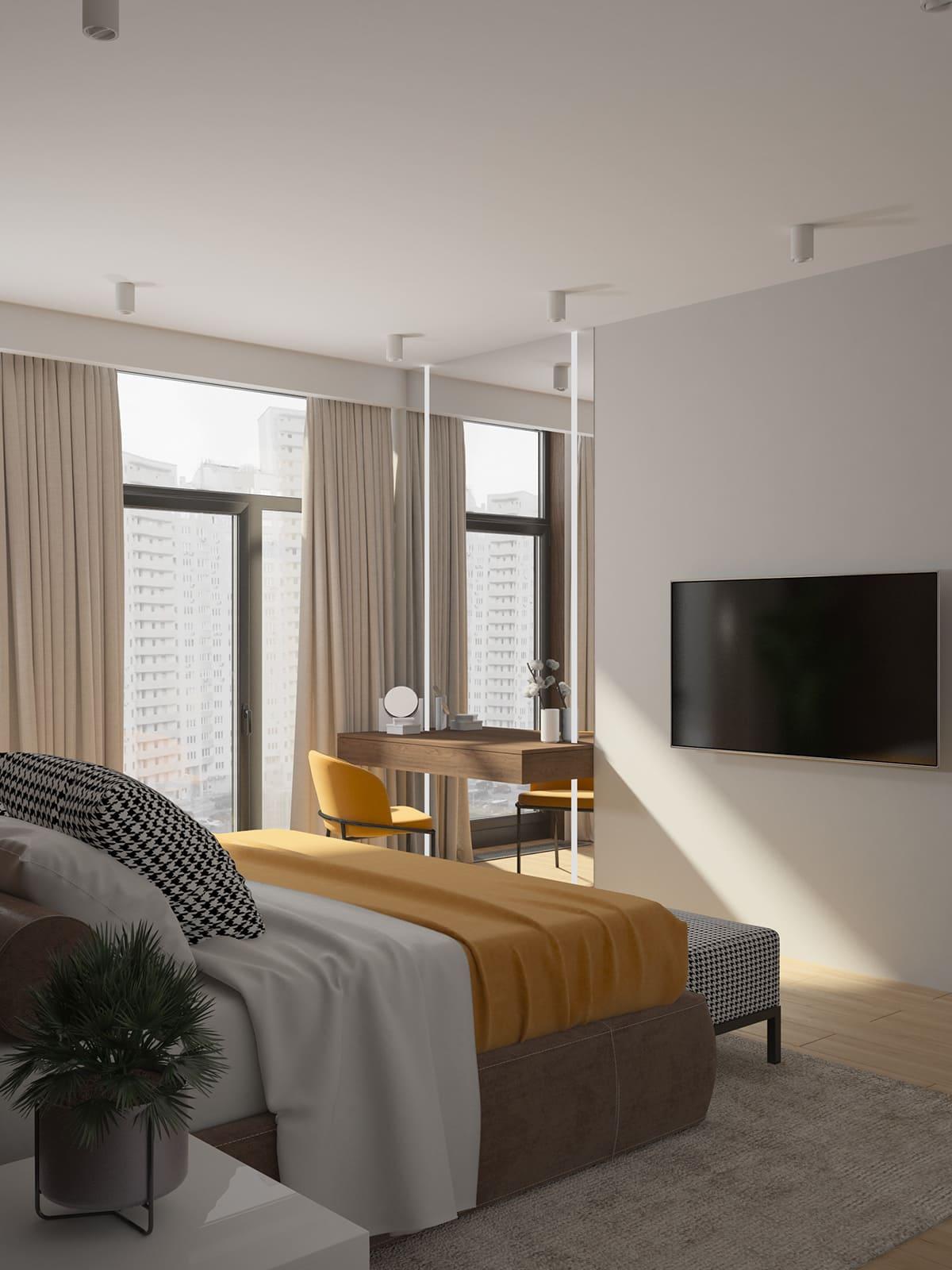 conception d'un appartement d'une pièce photo 9