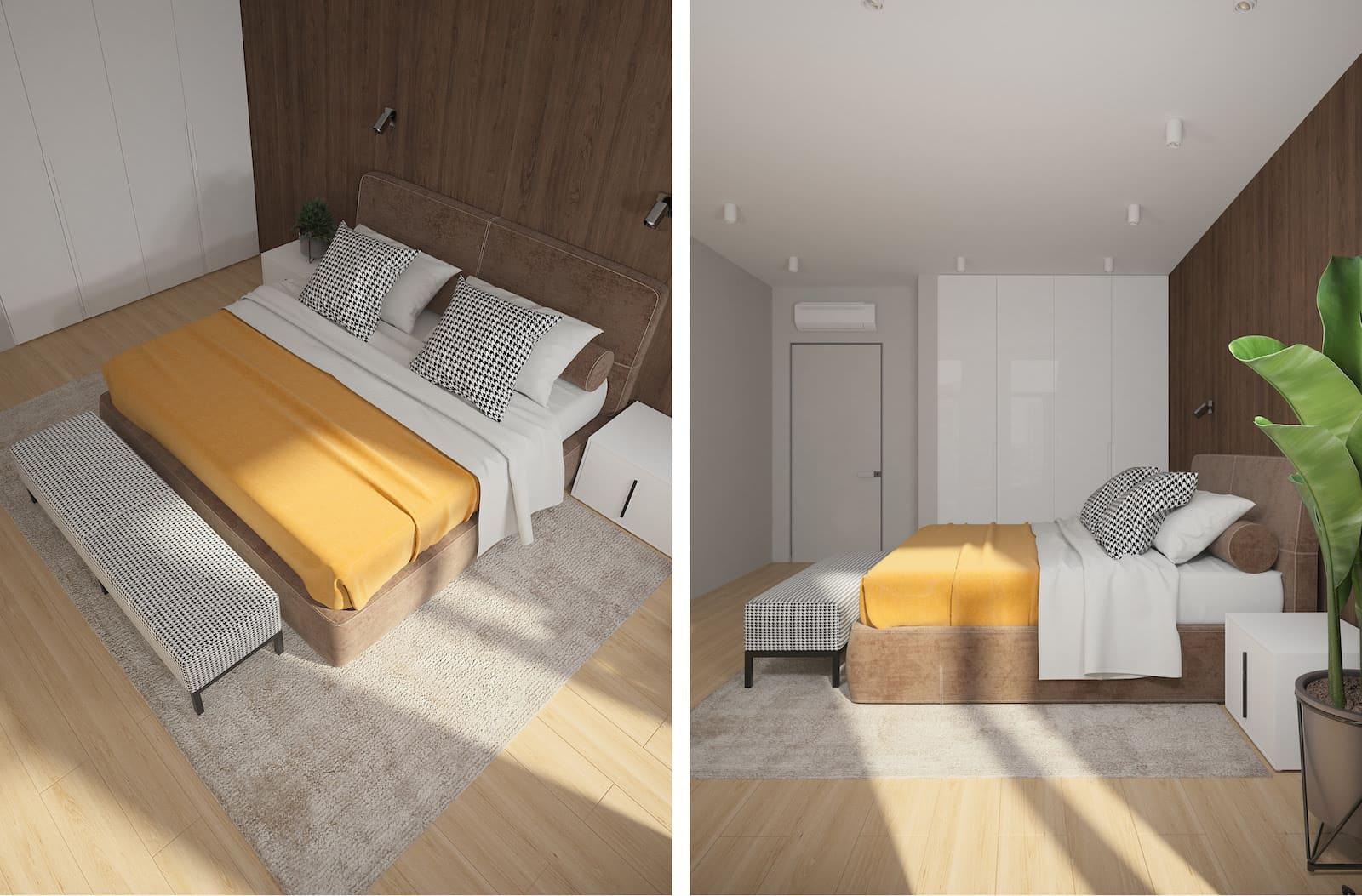 conception d'un appartement d'une pièce photo 11