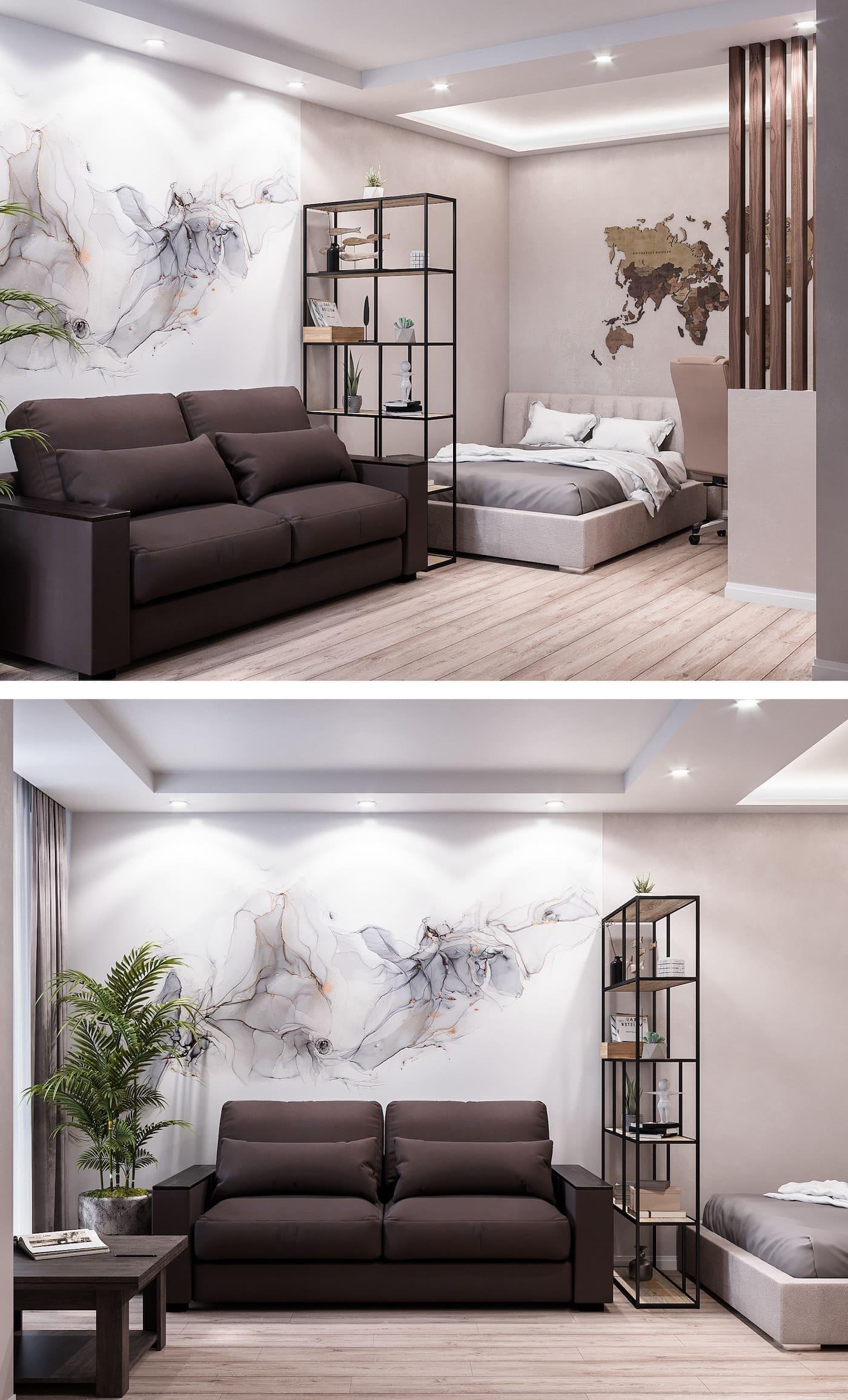 conception d'un appartement d'une pièce photo 22