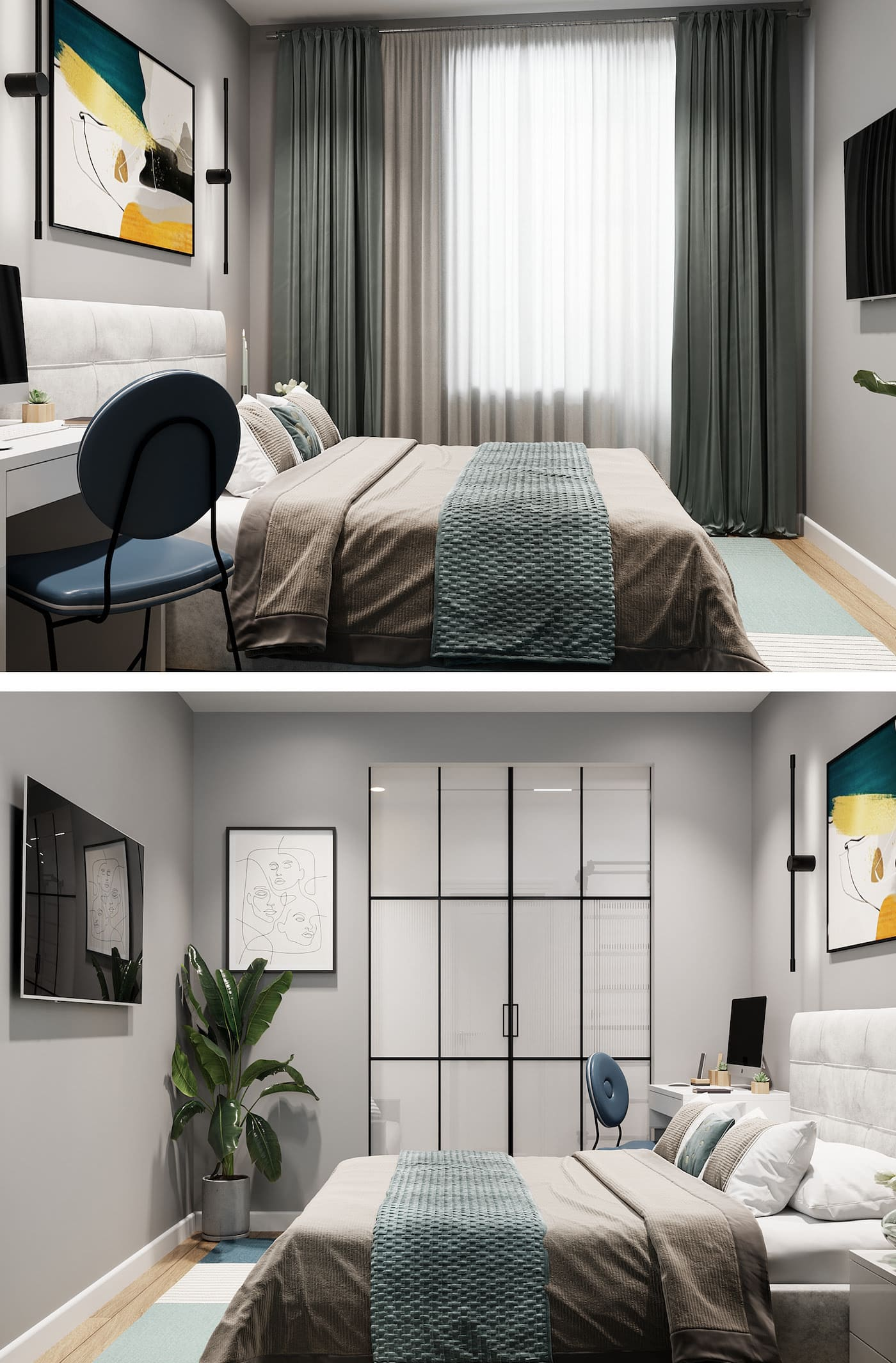 conception d'un appartement d'une pièce photo 23