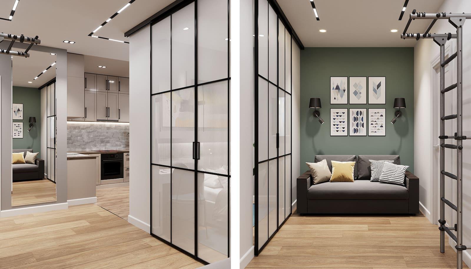 conception d'un appartement d'une pièce photo 24
