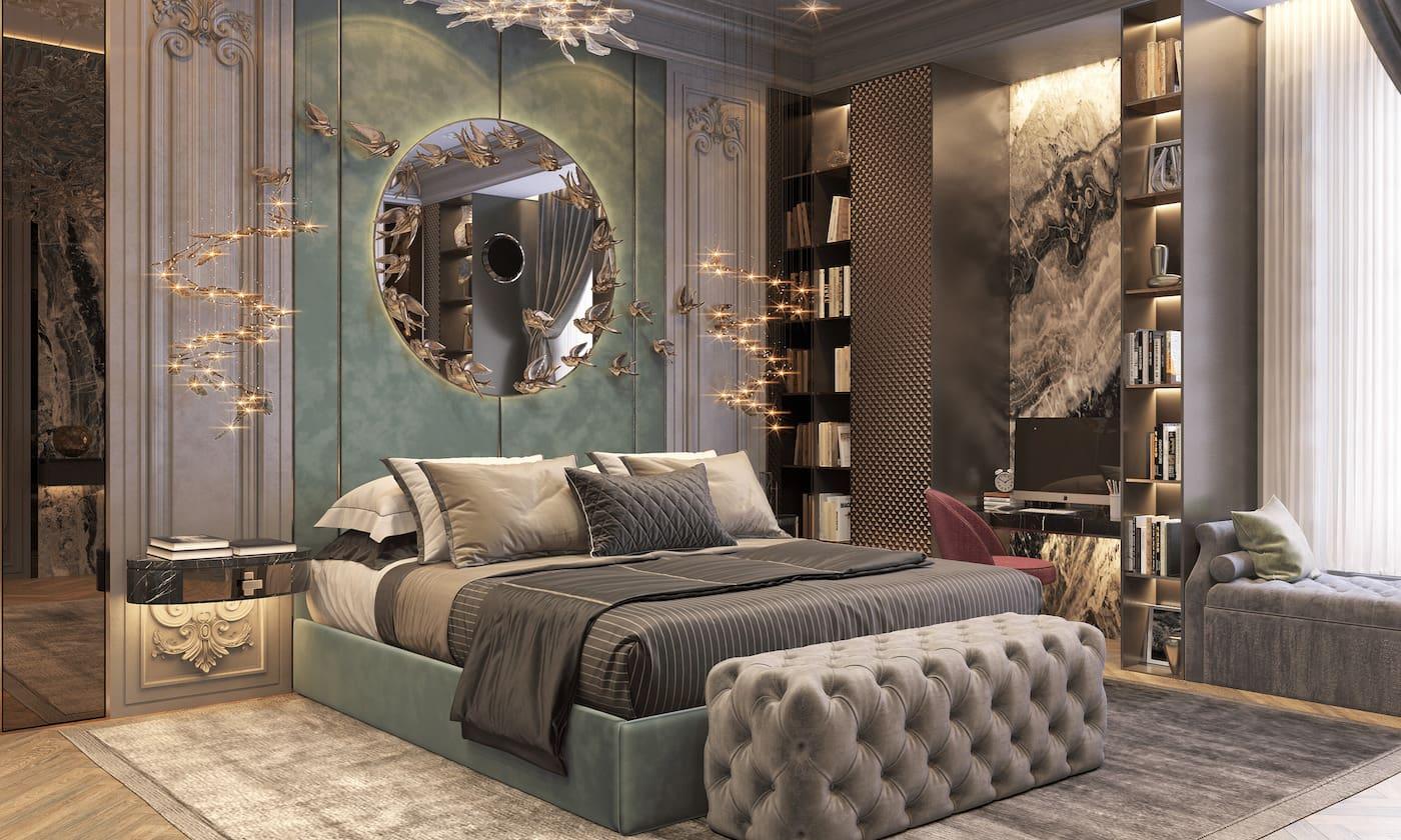 photo d'intérieur de chambre à la mode 48