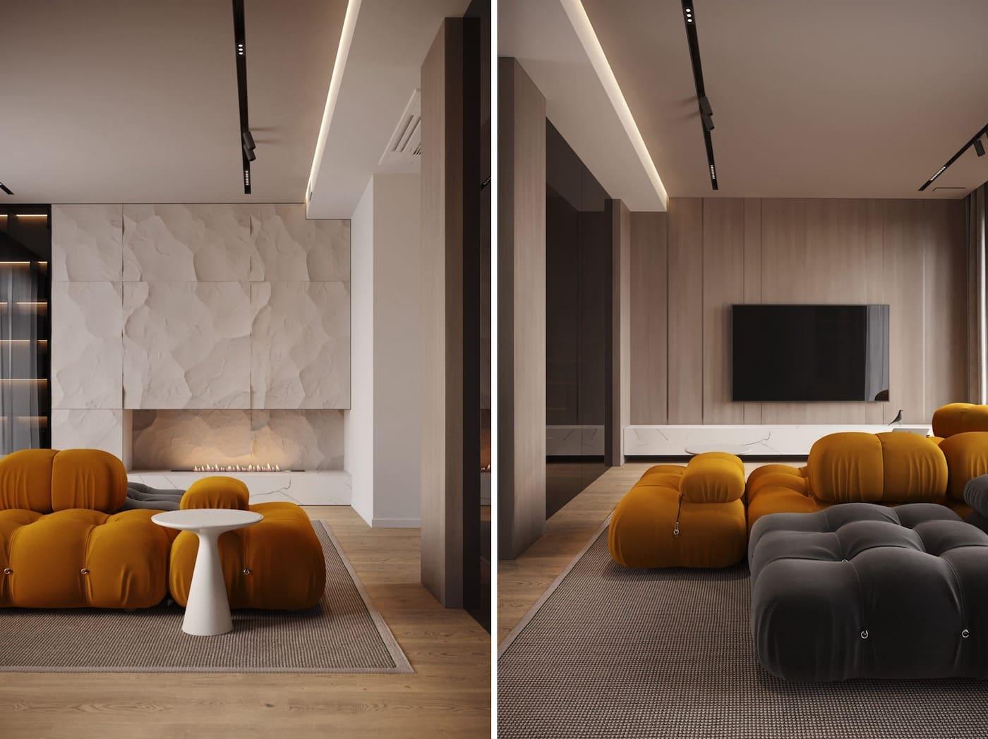 design d'intérieur d'un appartement à la mode photo 2