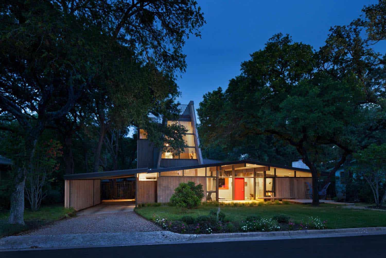 Mid-Century-moderne-maison-extérieur