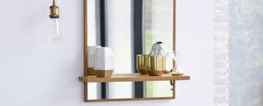 Le miroir avec rangement qui reflète un esprit organisé