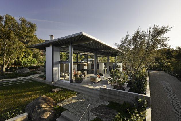 Résidence Montecito par Barton Myers Associates en Californie, États-Unis