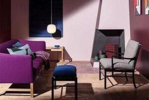 intérieur en violet