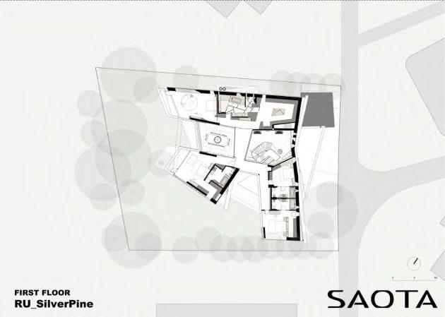 Silver Pine Residence par SAOTA à Moscou, Russie