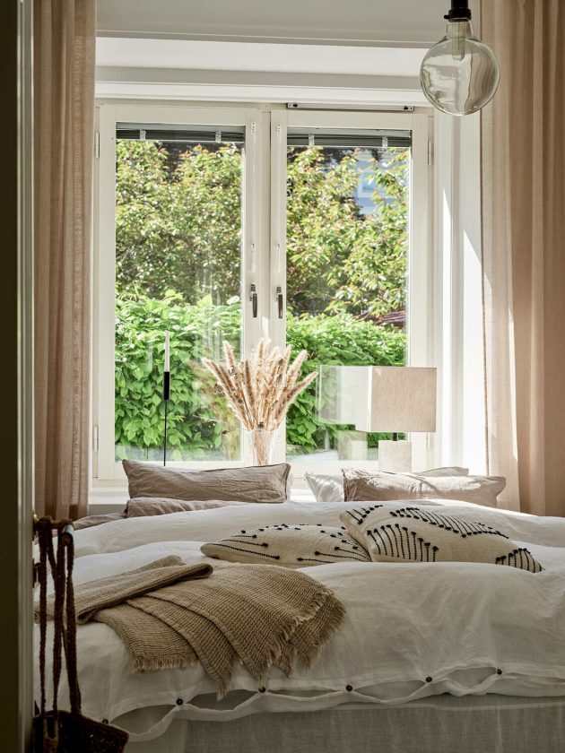Mae de style cosy avec des textiles