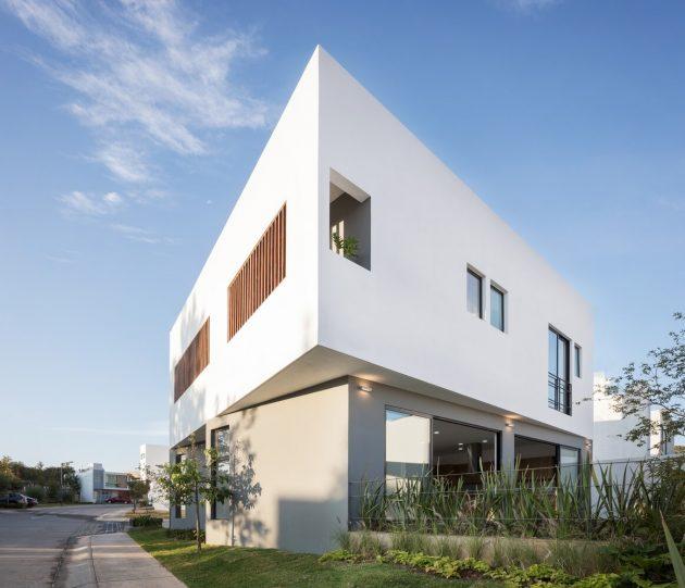 Maison Almendro 22 par Arqueodigma Estudio au Mexique