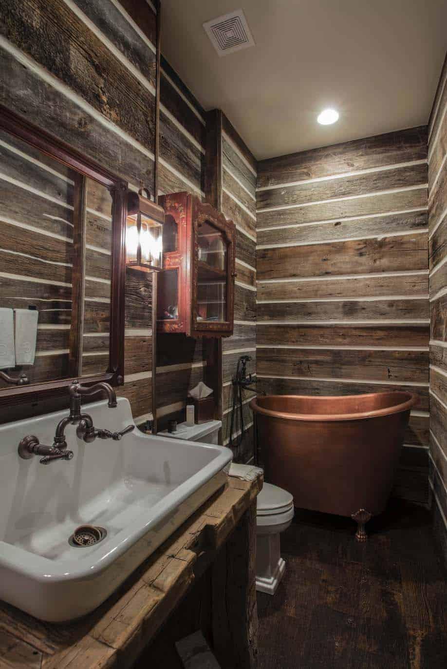 ferme-rustique-salle de bain