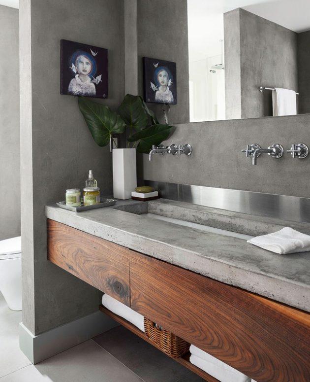 Idées déco pour une salle de bain autour du bois