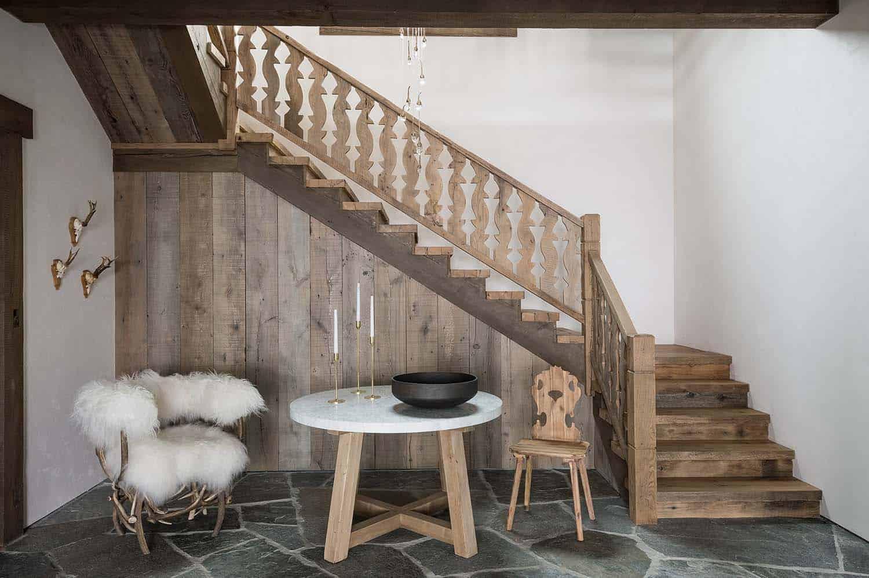 escalier-d'entree-d'inspiration-chalet-suisse